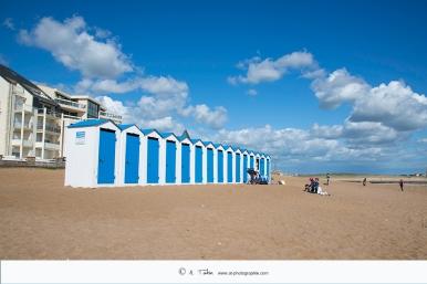 St Gilles Croix de Vie - Cabines sur la plage de Boisvinet