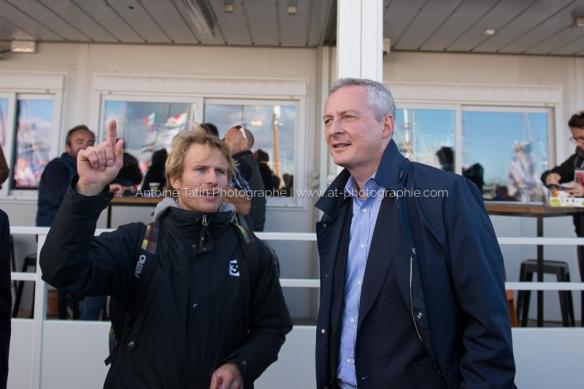 Avec François Gabart, vainqueur de la dernière édition du Vendée Globe