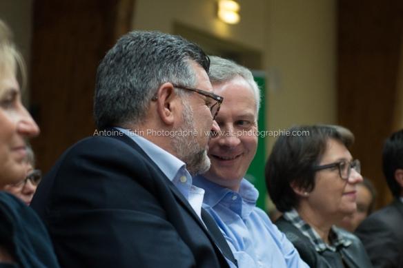 Avec Luc Bouard, maire de la Roche-sur-Yon et soutien
